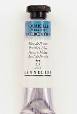 France Sennelier, Aquarelle Watercolor Paint, Prussian Blue, 318,10ml Tube, Series 2