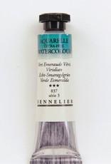 France Sennelier, Aquarelle Watercolor Paint, Viridian, 837,10ml Tube, Series 5