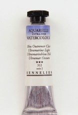 France Sennelier, Aquarelle Watercolor Paint, Ultramarine Light, 312,10ml Tube, Series 2