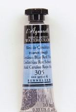 France Sennelier, Aquarelle Watercolor Paint, Cerulean Blue, Red Shade, 305,10ml Tube, Series 4