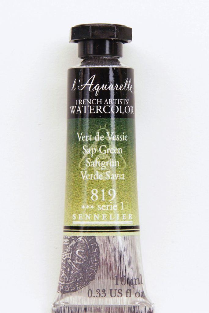 France Sennelier, Aquarelle Watercolor Paint, Sap Green, 819,10ml Tube, Series 1