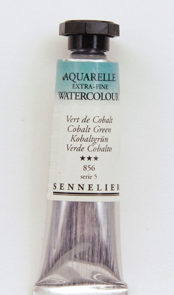 France Sennelier, Aquarelle Watercolor Paint, Cobalt Green, 856,10ml Tube, Series 5