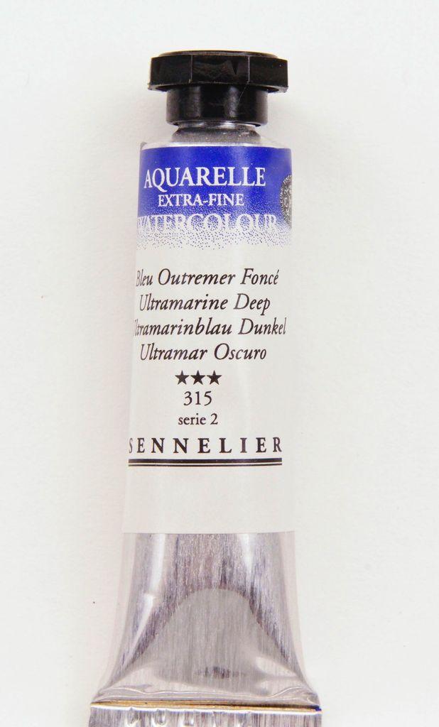France Sennelier, Aquarelle Watercolor Paint, Ultramarine Deep, 315,10ml Tube, Series 2
