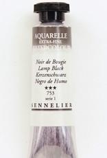 France Sennelier, Aquarelle Watercolor Paint, Lamp Black, 753,10ml Tube, Series 1
