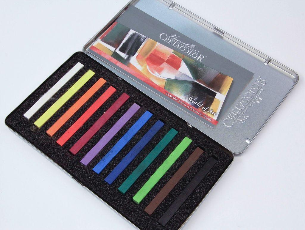 Cretacolor, Pastel Carre Sticks, Set of 12 Colors