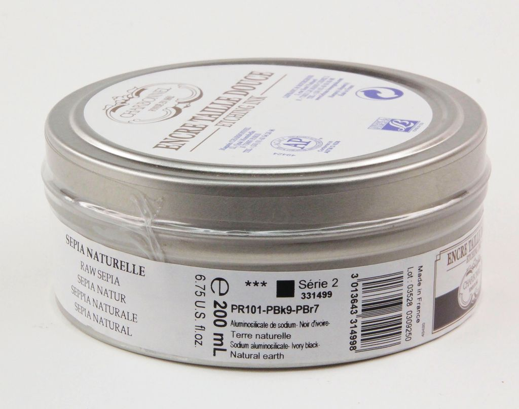 France Charbonnel, Etching Ink, Raw Sepia, Series 2, 200ml, Can