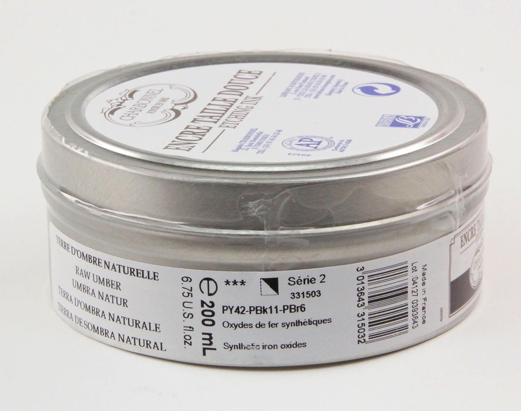 France Charbonnel, Etching Ink, Raw Umber, Series 2, 200ml, Can
