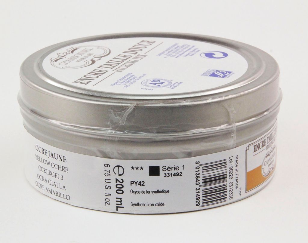 France Charbonnel, Etching Ink, Yellow Ochre, Series 1, 200ml, Can
