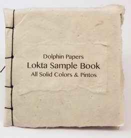 "Nepal Lokta Sample Book, All Solid Colors & Pintos, 5"" x 5"""