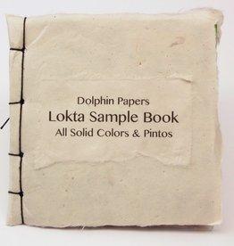 "Nepal Lokta Sample Book, All Solid Colors & Pintos, 5"" x 5"""