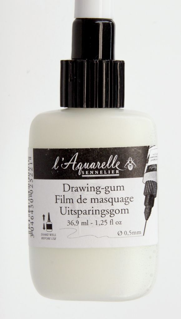 France Sennelier, Aquarelle, Drawing Gum, Watercolor Masking 1.25 oz tube with applicator