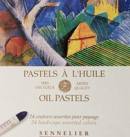 France Sennelier, Landscape Oil Pastel Cardboard Set of 24