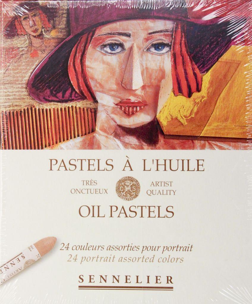France Sennelier, Portrait Oil Pastel Cardboard Set of 24