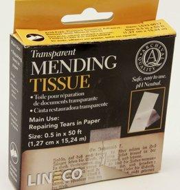 """Transparent Mending Tape, Acid-Free Self-Adhesive, 1/2"""" x 600"""","""