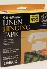 "Domestic Linen Hinging Cloth Tape, Self Adhesive, 1.25"" x 150'"