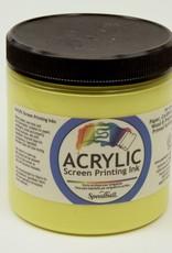 Acrylic Screen Printing Ink,  Yellow, 8oz