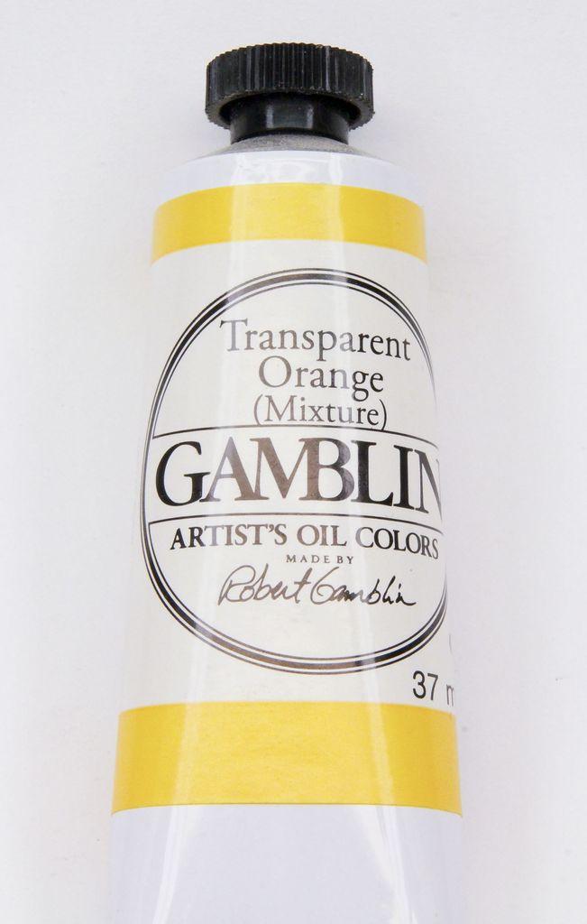 Domestic Gamblin Oil Paint, Transparent Orange (mixture), Series 3, Tube 37ml<br /> List Price: 17.95