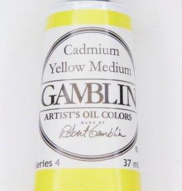Domestic Gamblin Oil Paint, Cadmium Yellow Medium, Series 4, Tube 37ml<br /> List Price: 24.95