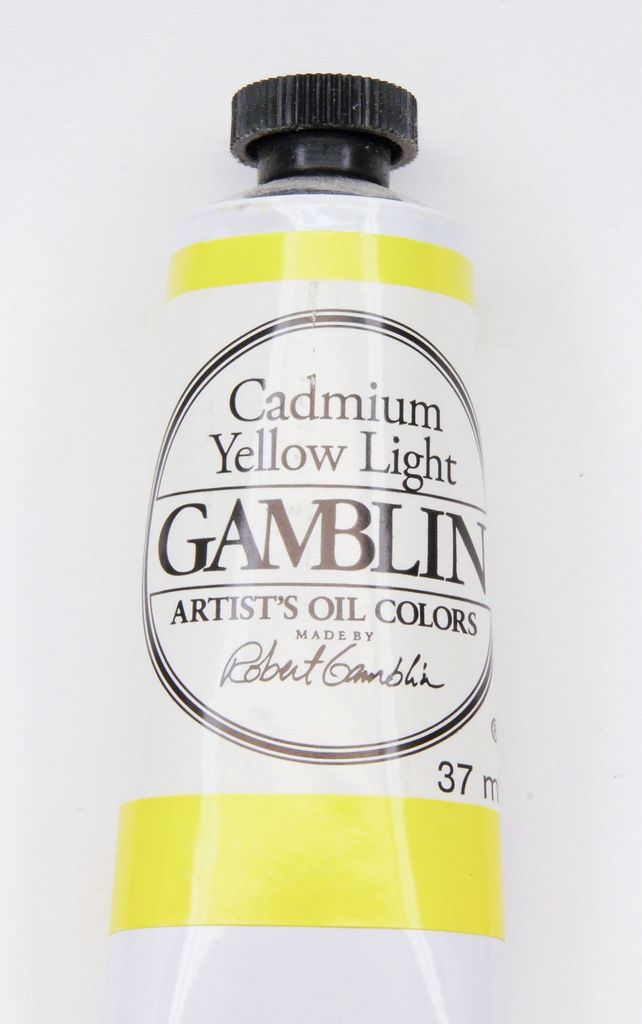 Domestic Gamblin Oil Paint, Cadmium Yellow Light, Series 4, Tube 37ml<br /> List Price: 24.95