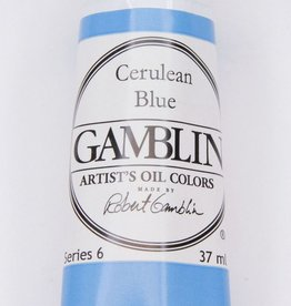Domestic Gamblin Oil Paint, Cerulean Blue, Series 6, Tube 37ml<br /> List Price: 34.95