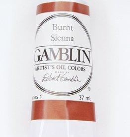Domestic Gamblin Oil Paint, Burnt Sienna, Series 1, Tube 37ml<br /> List Price: $10.95