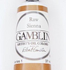 Domestic Gamblin Oil Paint, Raw Sienna, Series 1, Tube 37ml<br /> List Price: $10.95