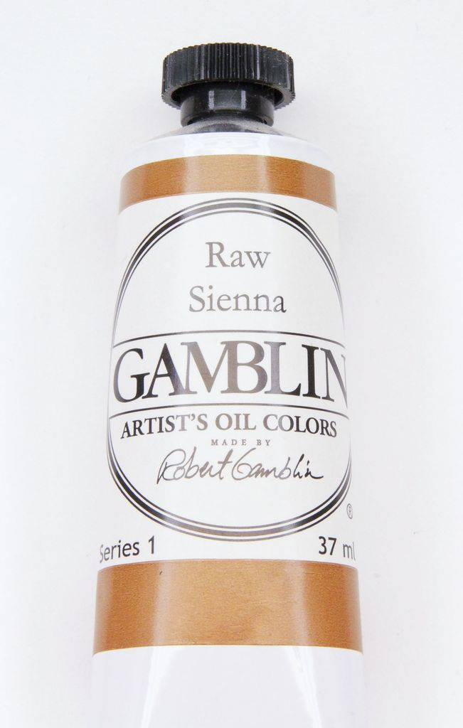 Domestic Gamblin Oil Paint, Raw Sienna, Series 1, Tube 37ml<br /> List Price: $10.95