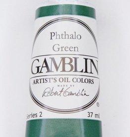 Domestic Gamblin Oil Paint, Phthalo Green, Series 2, Tube 37ml<br /> List Price: 12.95