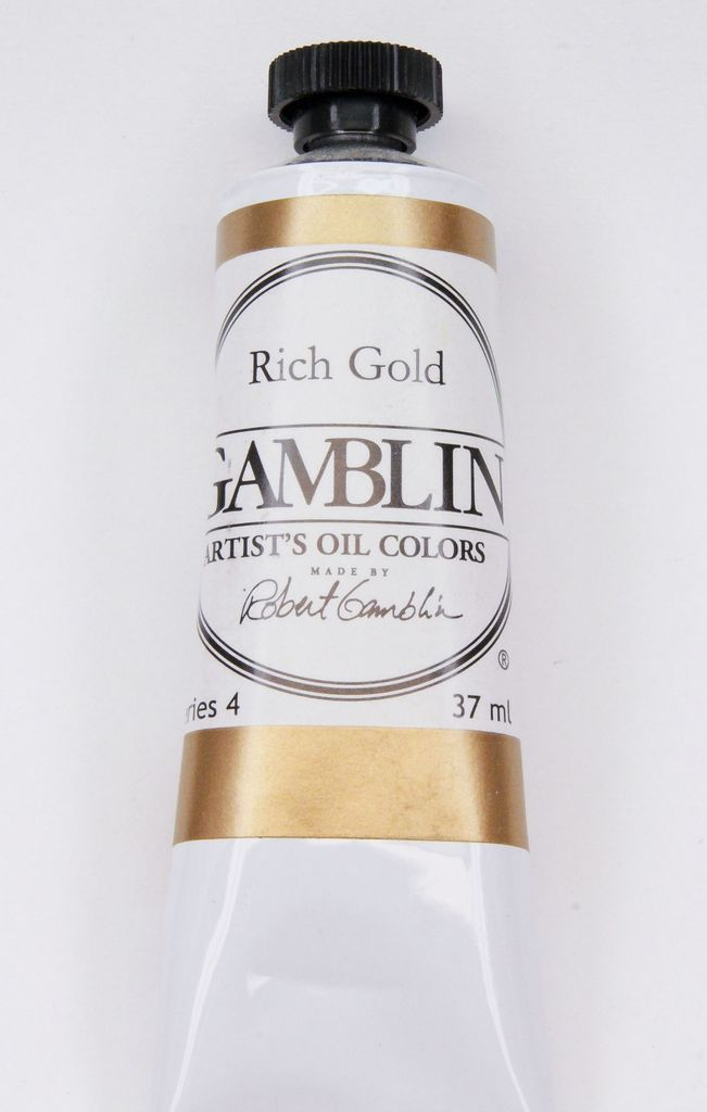 Domestic Gamblin Oil Paint, Rich Gold, Series 4, Tube 37ml<br /> List Price: 24.95