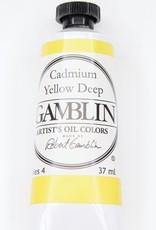 Domestic Gamblin Oil Paint, Cadmium Yellow Deep, Series 4, Tube 37ml<br /> List Price: 24.95