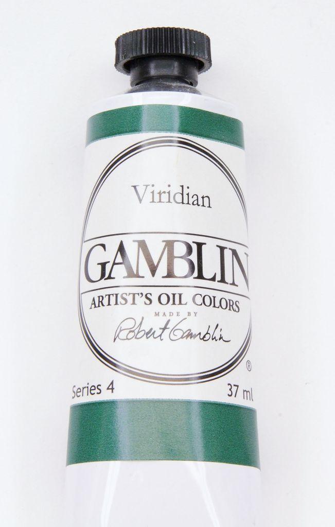 Domestic Gamblin Oil Paint, Viridian, Series 4, Tube 37ml<br /> List Price: 24.95