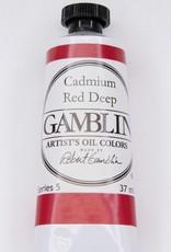 Domestic Gamblin Oil Paint, Cadmium Red Deep, Series 5, Tube 37ml<br /> List Price: 29.95