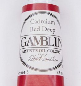Domestic Gamblin Oil Paint, Cadmium Red Deep, Series 5, Tube 37ml<br /> List Price: 29.95