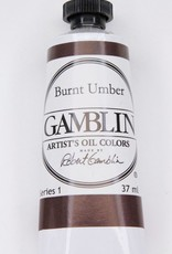 Domestic Gamblin Oil Paint, Burnt Umber, Series 1, Tube 37ml<br /> List Price: $10.95
