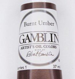 Domestic Gamblin Oil Paint, Burnt Umber, Series 1, Tube 37ml<br /> List Price: $10.95