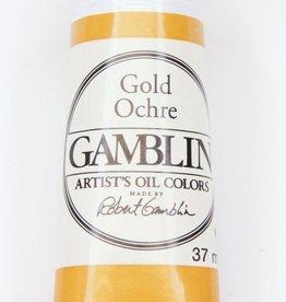 Domestic Gamblin Oil Paint, Gold Ochre, Series 2, Tube 37ml<br /> List Price: 12.95