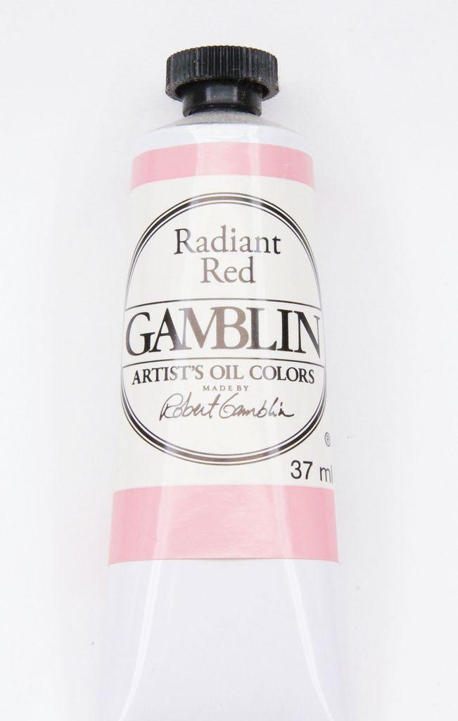 Domestic Gamblin Oil Paint, Radiant Red, Series 2, Tube 37ml<br /> List Price: 12.95