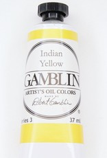 Domestic Gamblin Oil Paint, Indian Yellow, Series 3, Tube 37ml<br /> List Price: 17.95