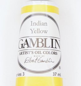 Domestic Gamblin Oil Paint, Indian Yellow, Series 3, Tube 37ml<br /> List Price: 17.95