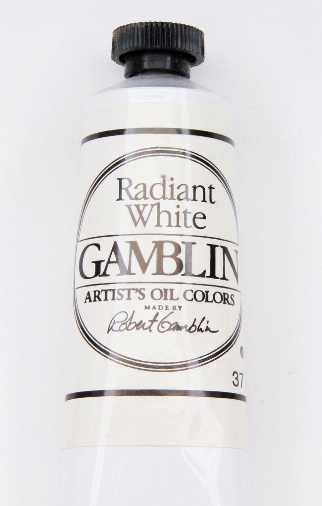 Domestic Gamblin Oil Paint, Radiant White, Series 2, Tube 37ml<br /> List Price: 12.95