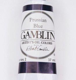 Domestic Gamblin Oil Paint, Prussian Blue, Series 2, Tube 37ml<br /> List Price: 12.95