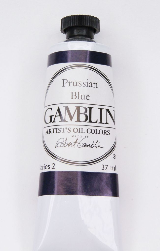 Domestic Gamblin Oil Paint, Prussian Blue, Series 2, Tube 37ml<br /> List Price: 12.95