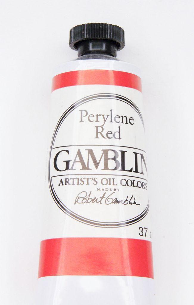 Domestic Gamblin Oil Paint, Perylene Red, Series 3, Tube 37ml<br /> List Price: 17.95