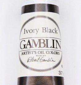 Domestic Gamblin Oil Paint, Ivory Black, Series 1, Tube 37ml<br /> List Price: $10.95