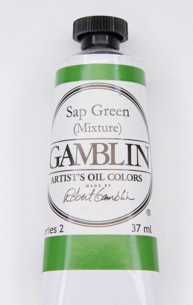 Domestic Gamblin Oil Paint, Sap Green (mixture) Series 2, Tube 37ml<br /> List Price: 12.95