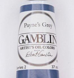 Domestic Gamblin Oil Paint, Payne's Grey, Series 2, Tube 37ml<br /> List Price: 12.95