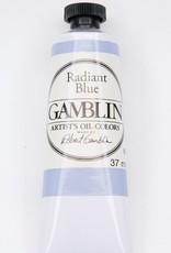 Domestic Gamblin Oil Paint, Radiant Blue, Series 2, Tube 37ml<br /> List Price: 12.95