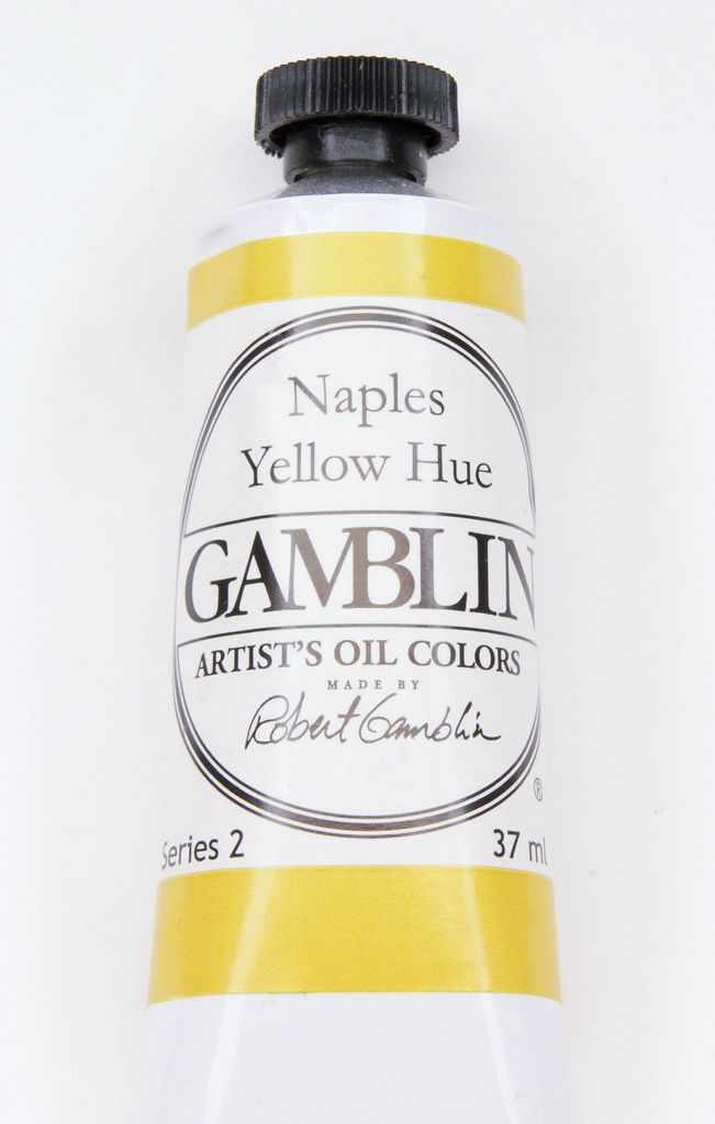 Domestic Gamblin Oil Paint, Naples Yellow Hue, Series 2, Tube 37ml<br /> List Price: 12.95