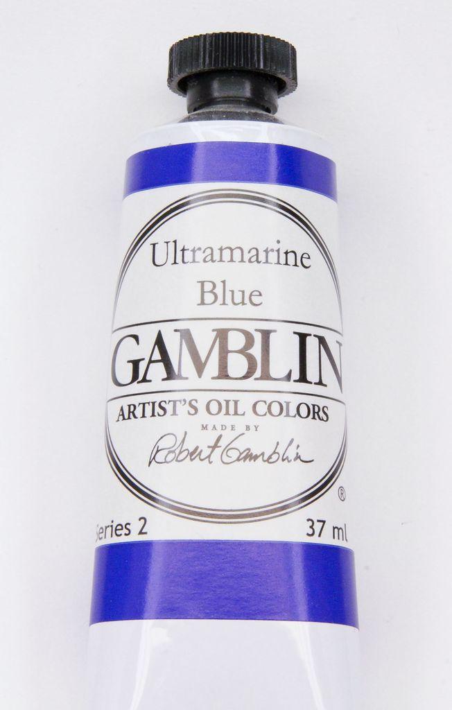 Domestic Gamblin Oil Paint, Ultramarine Blue, Series 2, Tube 37ml<br /> List Price: 12.95