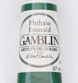 Domestic Gamblin Oil Paint, Phthalo Emerald, Series 2, Tube 37ml<br /> List Price: 12.95